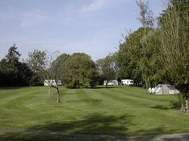 The rear camping field