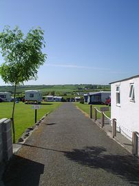 View onto the caravan park and countryside be