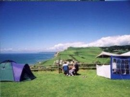 Camping with views across the Jurassic Coast