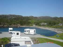 View of Scourie Harbour from Caravan Park