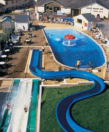 Outdoor pools and slides