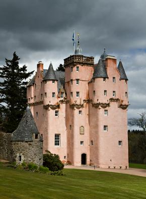 Baronial Craigievar Castle in Pink, Scotland