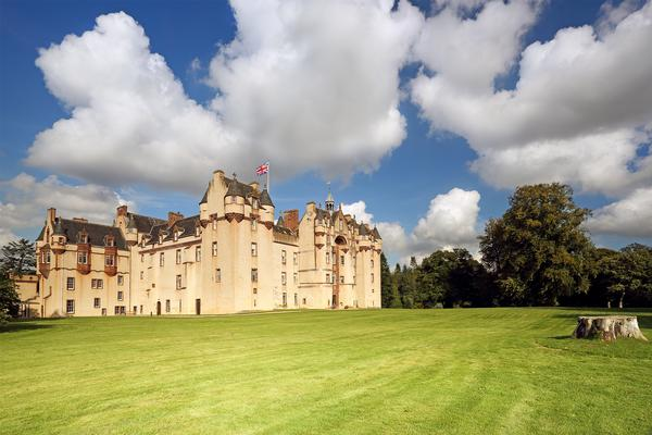 The 800 year old Fyvie Castle in Aberdeenshire, Scotland