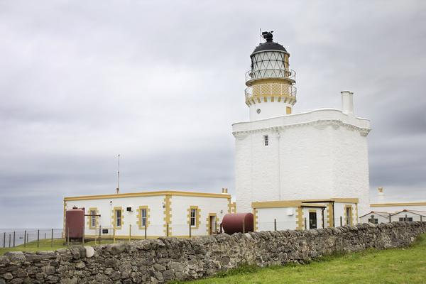 Kinnaird Head lighthouse, an original Stephenson Scottish lighthouse, now part of the Scottish Lighthouse Museum in Fraserburgh, Aberdeenshire