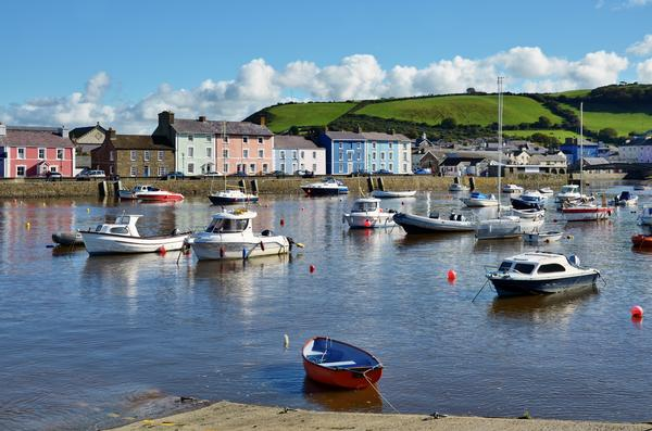 Boats in Aberaeron harbour