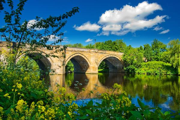 Bridge over the River Tees between Yarm and Eaglescliffe