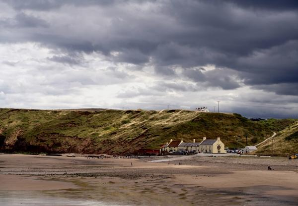 The beach and dunes at Saltburn-By-The-Sea - a seaside resort in the borough of Redcar and Cleveland.