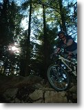 Mountain Biking at Mabie Forest. Picture courtesy of Davie 'Core' Martin.
