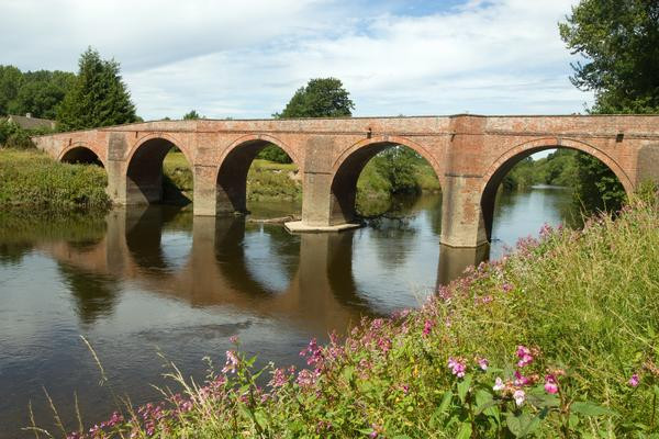 The Bredwardine Bridge over river Wye in Herefordshire