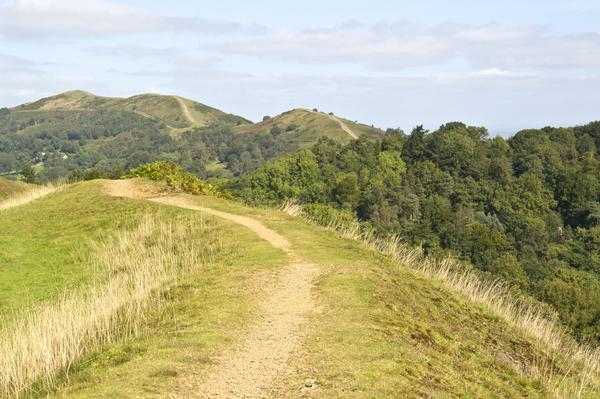 A Footpath through the countryside at Malvern Hills