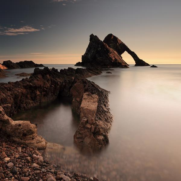 Sunrise at Bow Fiddle Rock