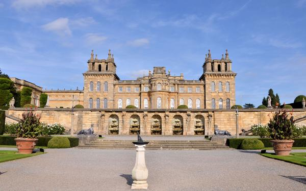 Blenheim Palace with Sundial in Foreground