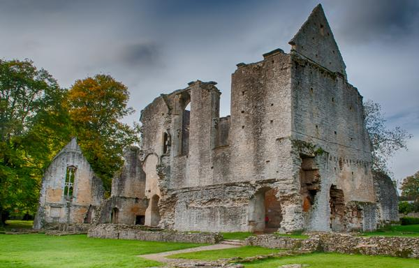 The ruins of Minster Lovell Hall in Oxfordshire