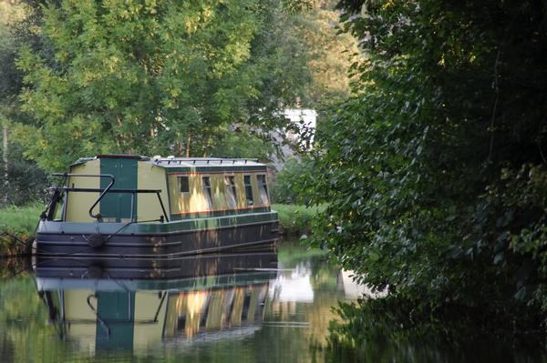 Narrowboat on the Monmouthshire and Brecon Canal, Powys