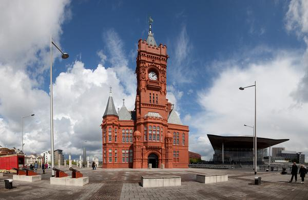 View of the Pierhead Building, Cardiff