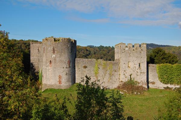 Ruins of a Norman castle at Chepstow