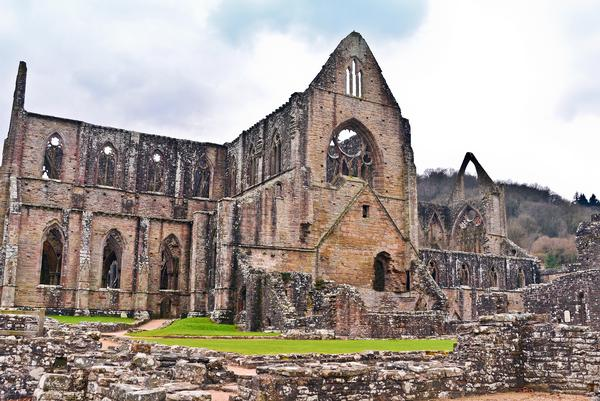 A view of the ruins of Tintern Abbey