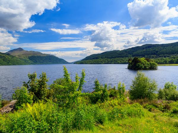 View over Loch Lomond at Inveruglas on a sunny day