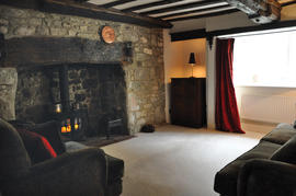 The Sitting Room with Inglenook Fire