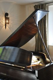 Baby Grand Piano in the Music Room
