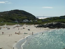 Nearest sandy beach at Achmelvich