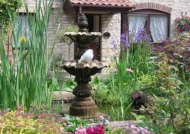 Doves & Fountain