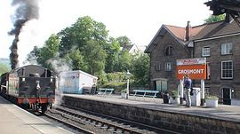 Grosmont Steam railway station 100yds away
