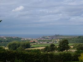 2 Sneaton Hall - The view of Whitby from our private patio