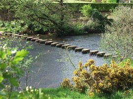 Stepping Stones across The Esk