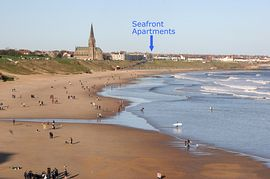 Seafront Apartments from Tynemouth Longsands