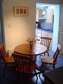 The kitchen's dining area