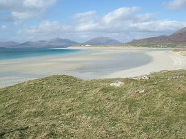 Seilebost Beach with Luskentyre in background