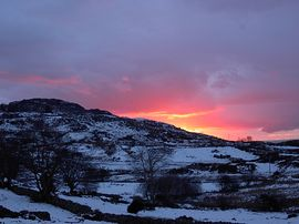 A winter sunset seen from Trem Y Mor