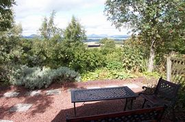 View across the Forth valley from the patio