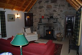 Living room at Mar Lodge holiday cottage