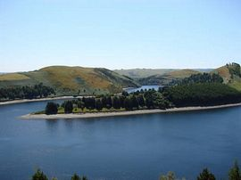 Lake Clywedog (5 miles from the cottages)