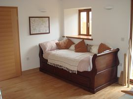 Open plan sleeping area