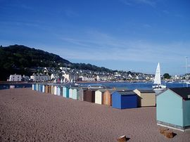 "Beach Huts on Teignmouth ""Back Beach"""