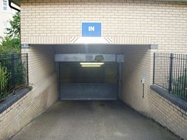 Secure underground parking