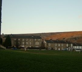 View across Reeth green