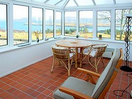 Conservatory overlooking Loch Dunvegan