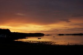 Sunset over Loch Dunvegan