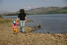 Loch Awe - just a stone's throw away