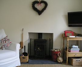Cosy Wood burner in lounge
