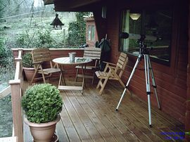 Seating area on decking
