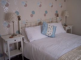 The 'Blue Room' has a kingsize double bed
