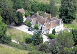 Aerial view of The Old Rectory