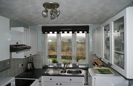 Kitchen with view from window