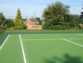 Newly Surfaced Tennis Court