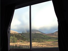 The view to Ben Nevis from the dining room